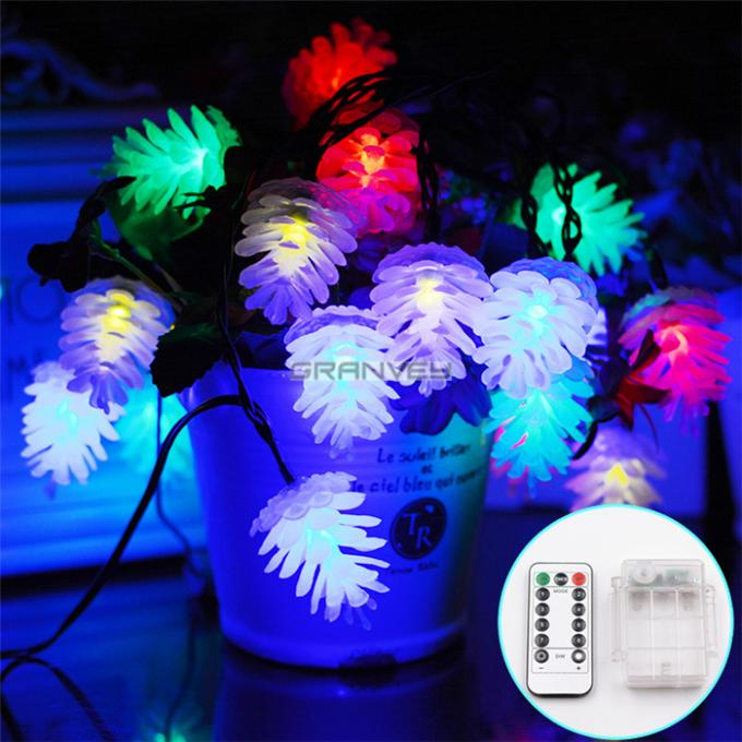 La ficelle décorative de Pinecone LED allume le décor accrochant de Noël de batterie d'aa